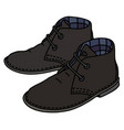 black suede shoes vector image vector image