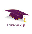 burgyndy education cup vector image