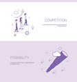 business competition and possibility for vector image