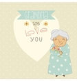Card for Grandma vector image vector image