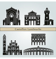 Castellon landmarks and monuments vector image vector image