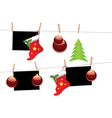 Christmas Stockings on Rope vector image