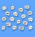comic speech chat bubbles vector image vector image
