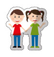 cute parents couple icon vector image
