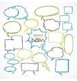 doodle comic speech bubbles set vector image