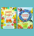 easter egg hunt poster invitation flyer template vector image vector image