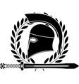 Fantasy hellenic sword and helmet