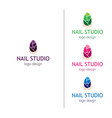 fashion nails studio logo for the beauty salon vector image vector image
