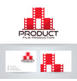 film production logo design vector image