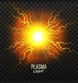 fireball plasma lightning effect magic vector image vector image
