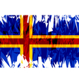 Flag of Aland vector image vector image
