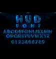 futuristic hud blue font design vector image