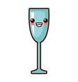 glass cup isolated kawaii cute cartoon vector image vector image