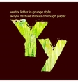grungy letter Y vector image