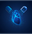 heart pill vector image