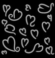 heart shape with brush painting vector image