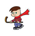 hockey player bully boy vector image vector image