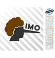 imo lier flat icon with bonus vector image vector image