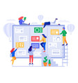 kanban board agile project management office vector image