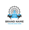 lenmarc logo building vector image vector image
