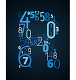 Letter R font from numbers vector image vector image