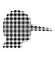 Lier halftone icon