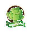 logo of vegetables and natural product vector image