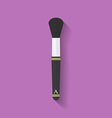 Makeup brush icon Flat style vector image vector image