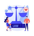 matrimonial law abstract concept vector image vector image
