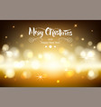 merry chistmas lettering on brown background with vector image