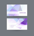 Modern business card template with polygonal mesh vector image vector image