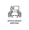 office group meeting thin line icon sign symbol vector image