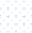 open icons pattern seamless white background vector image vector image