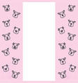 pattern of pig head with different emotions meme vector image