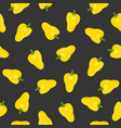 pepper vegetables seamless pattern on black vector image