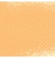 Polka Grunge Peach vector image vector image