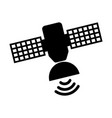 satellite silhouette isolated icon vector image