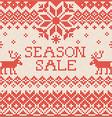 Season sale Scandinavian style seamless knitted vector image