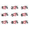 set of the price tags vector image vector image
