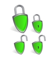 shield - security concept vector image vector image