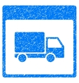 Shipment Truck Calendar Page Grainy Texture Icon vector image vector image