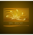 Spa themed design using golden line curve vector image vector image