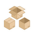 Square cardboard box icon