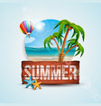 summer holiday with vintage vector image vector image
