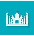 Taj Mahal on blue background vector image