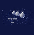 template for new year or christmas project winter vector image