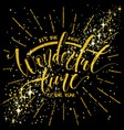 the most wonderful time of the year lettering vector image