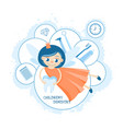 tooth fairy childrens dental clinic toothpaste vector image vector image