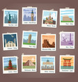 travel instant photos collection vector image vector image