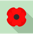 wild poppy flower icon flat style vector image